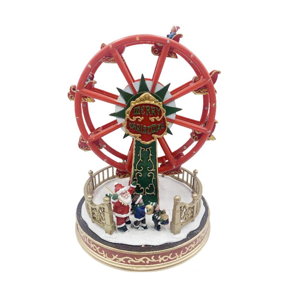 Giostra natalizia Ruota panoramica 367004 con luci, movimento e musica 29x21 cm