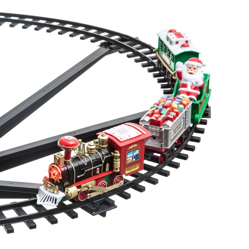 Treno Natalizio per centro albero di Natale 258051 Diametro 89 cm 33 pz addobbo
