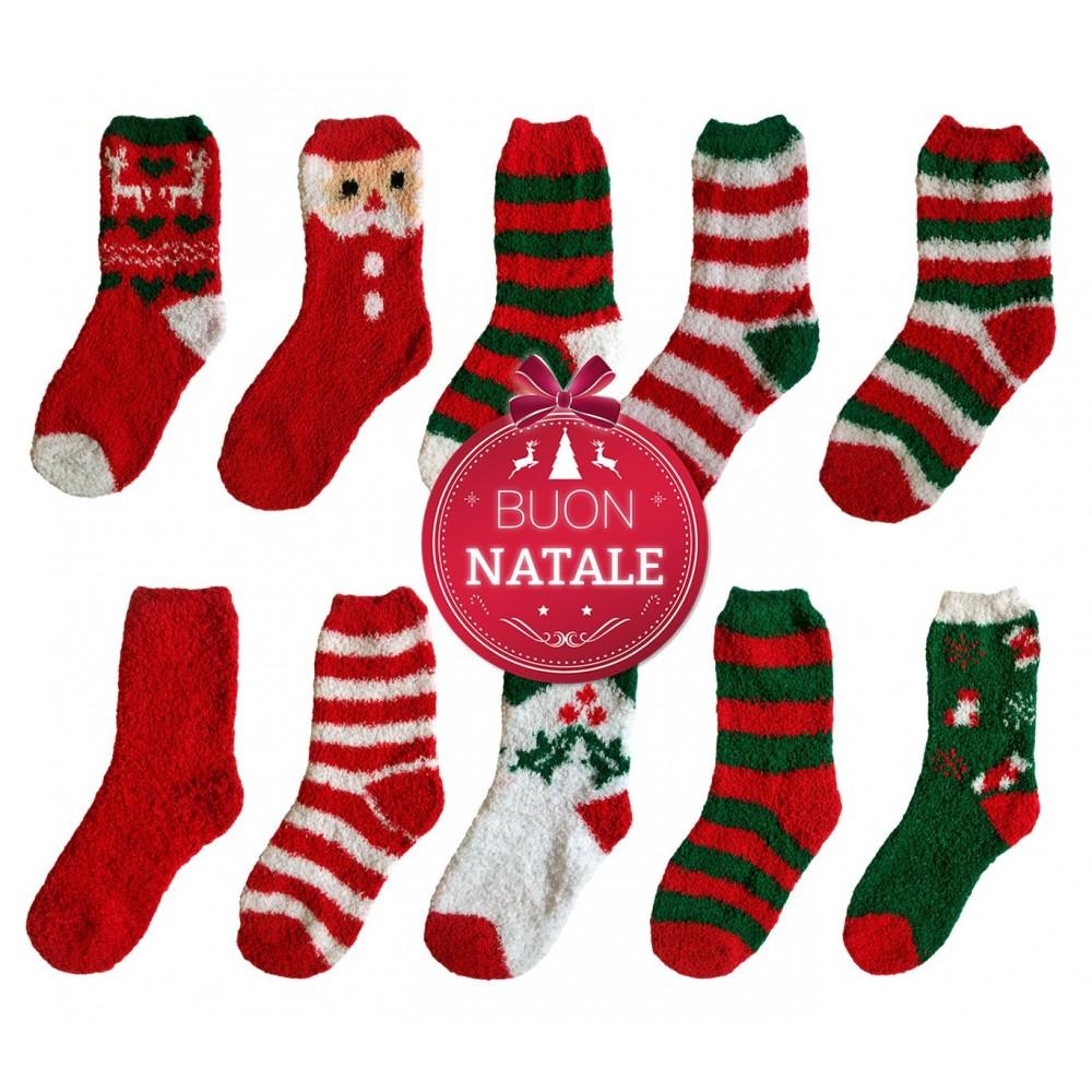 Pack 3 paia X-MASS calzini PRANCER termici a tema natalizio calze da donna