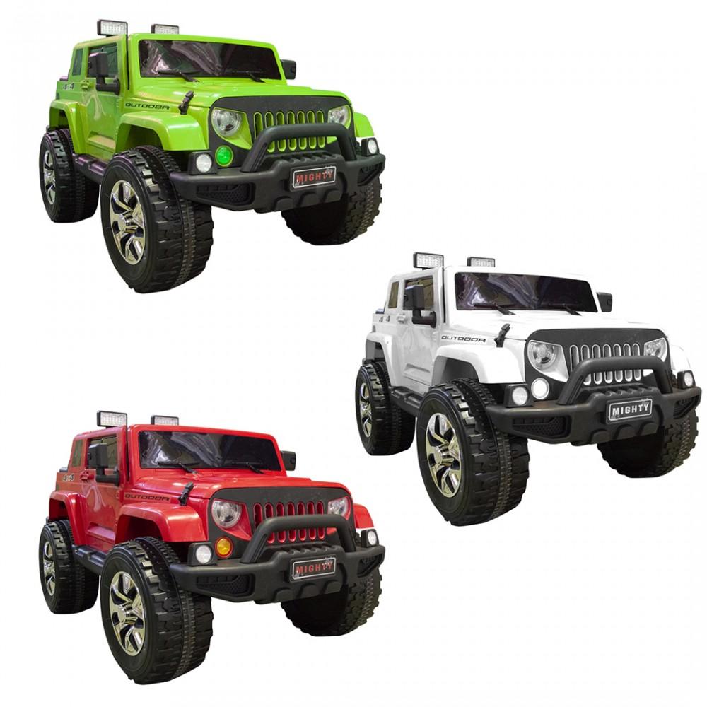 Auto Elettrica per Bambini Jeep 4x4 Outdoor 12V MP3 87510 USB Telecomando