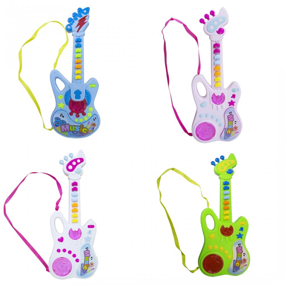 Chitarra per bambini MUSIC 102268 con tracolla melodie registrate e luci TRY ME