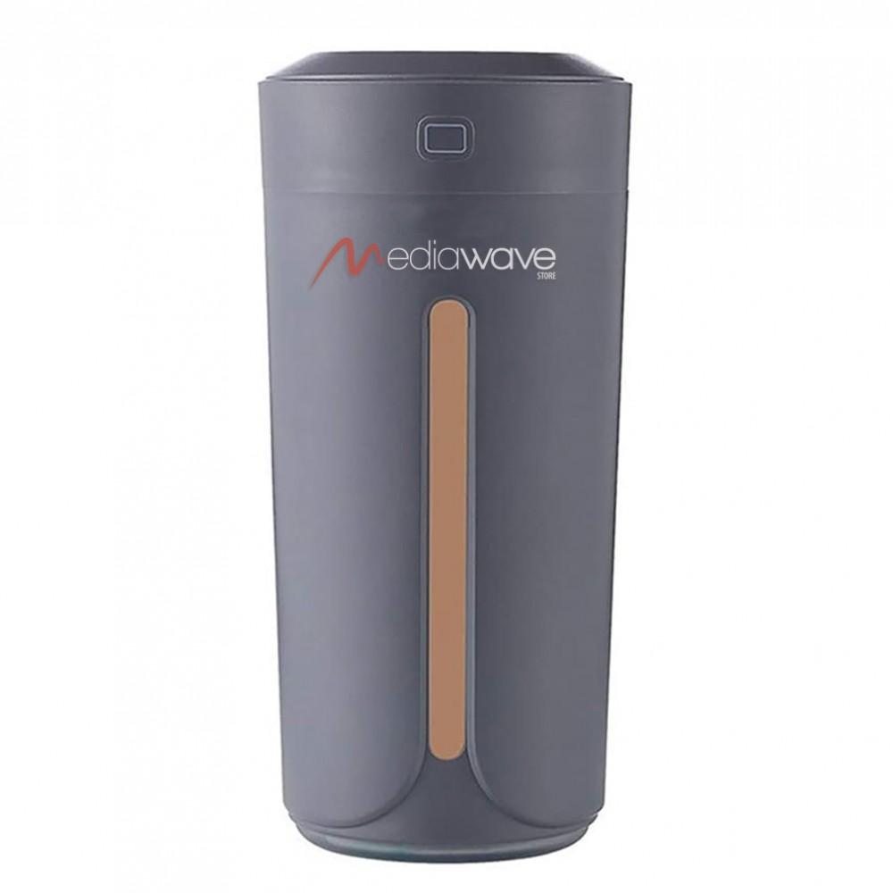 Erogatore di profumo ambienti con led 7 colori 230 ml umidificatore color grigio