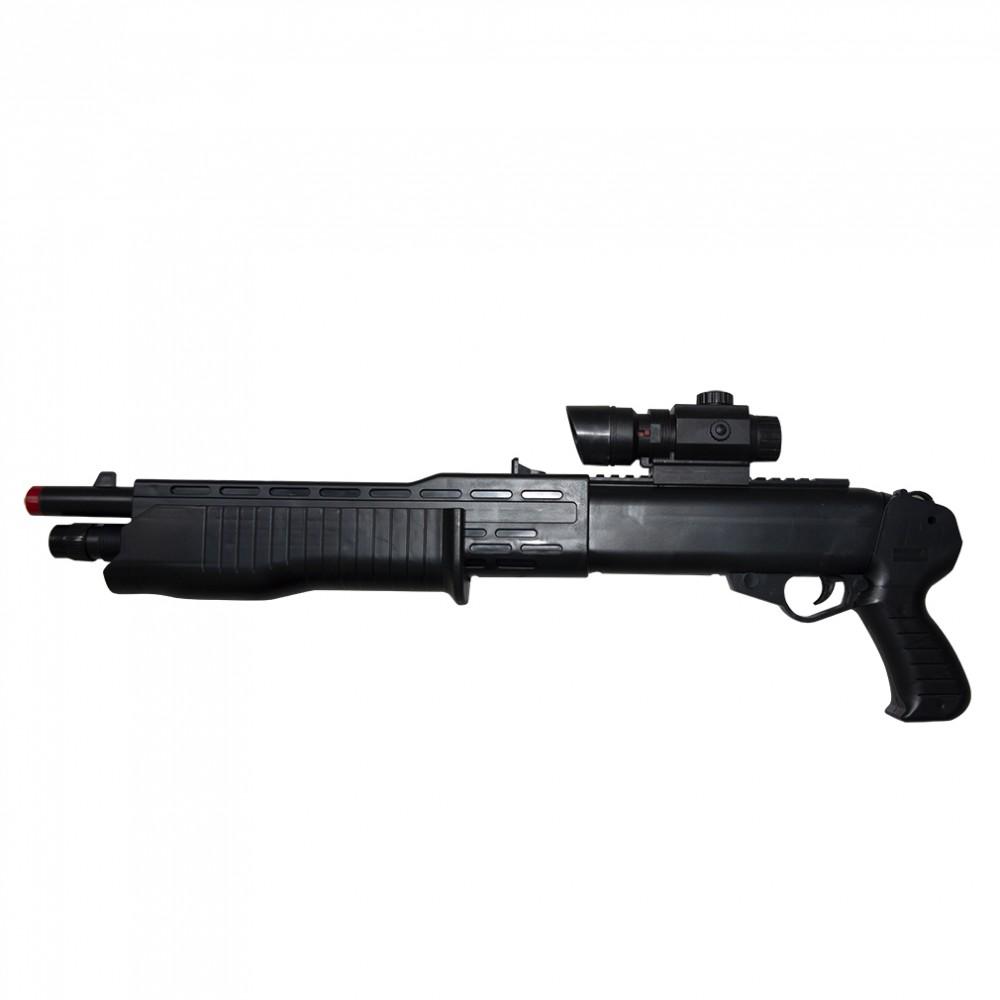 Fucile doppia canna calibro 6 mm arma giocattolo 101304 con laser RK302