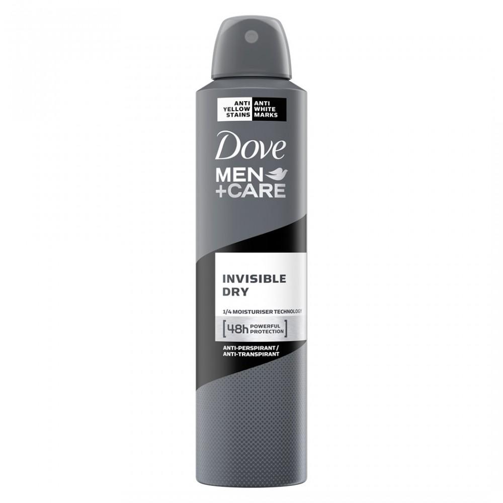 Dove men +care invisible dry 533806 spray deodorante 48h anti-traspirante 250ml