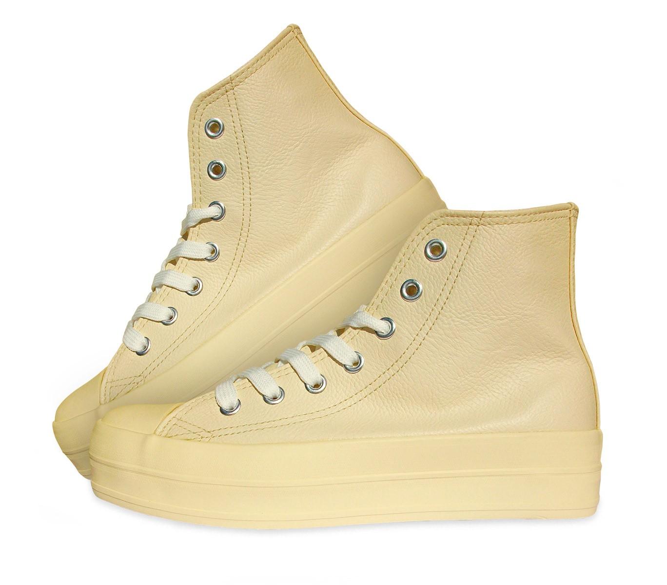 Scarpe sneakers alte modello FRANKY RAISE in similpelle con plateau di 3,5 cm