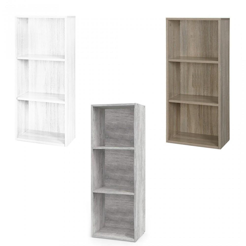 Libreria in legno PRONTO 89 con 3 ripiani 30x40xH90 cm soggiorno cameretta