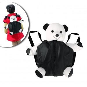 Zainetto peluche il mio amico Pandy imbottito con cerniera e bretelle regolabili