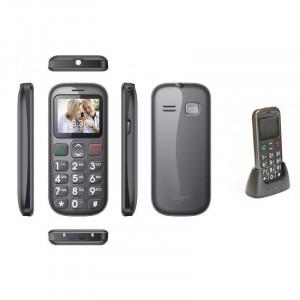 Cellulare gsm per anziani Senior Compas E07 dual sim tasti grandi - SOS emergenza - radio fm e torcia