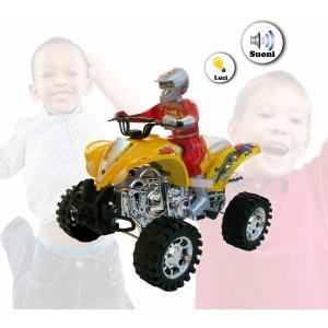 Image of Mini quad MAX MOTO a quattro ruote a batterie con luci e suoni cammina da sola in due colori 361501 8001881304050