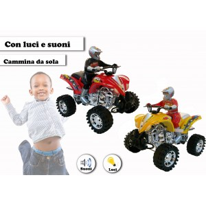 Mini moto quad Max a quattro ruote a batterie con luci e suoni cammina da sola in due colori