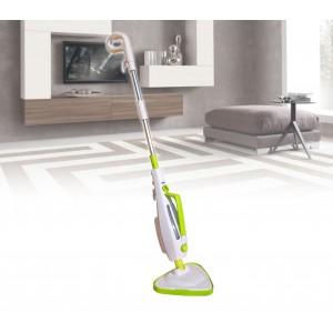 Scopa a vapore elettrica steam cleaner 1500 watt sterilizzatore per pavimenti con 2 panni in microfibra