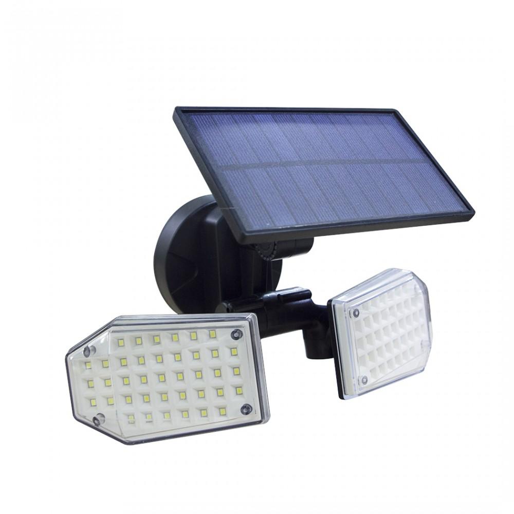 Lampada a pannello solare grandangolare 270° 78 LED 640788 sensore movimento
