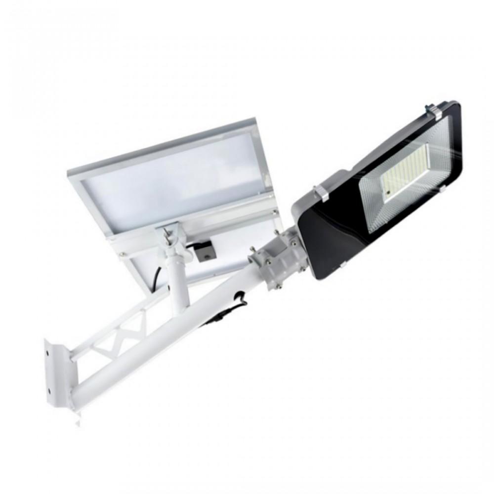 Lampione faro led stradale 100W con staffa 061007 pannello solare crepuscolare