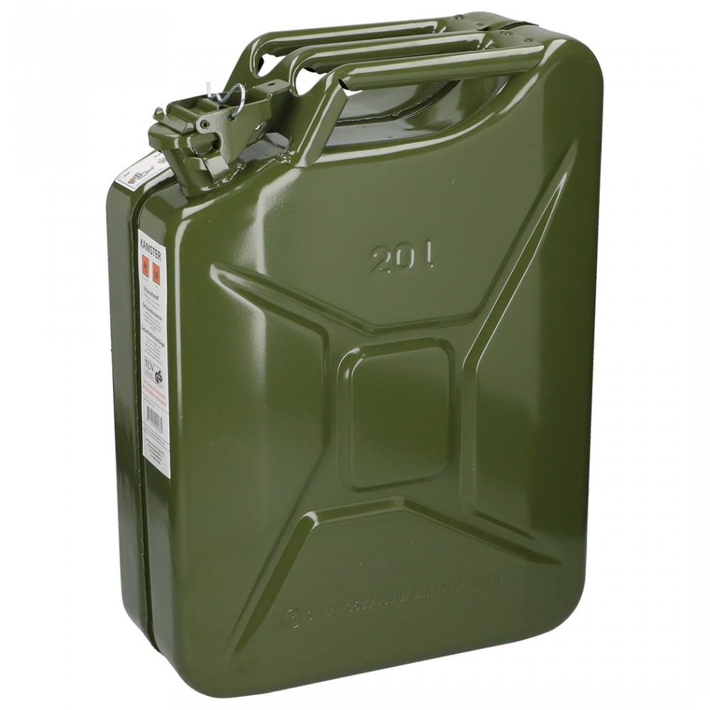 Tanica in metallo capacitA' 20L per carburanti liquidi e senza piombo TUV GS