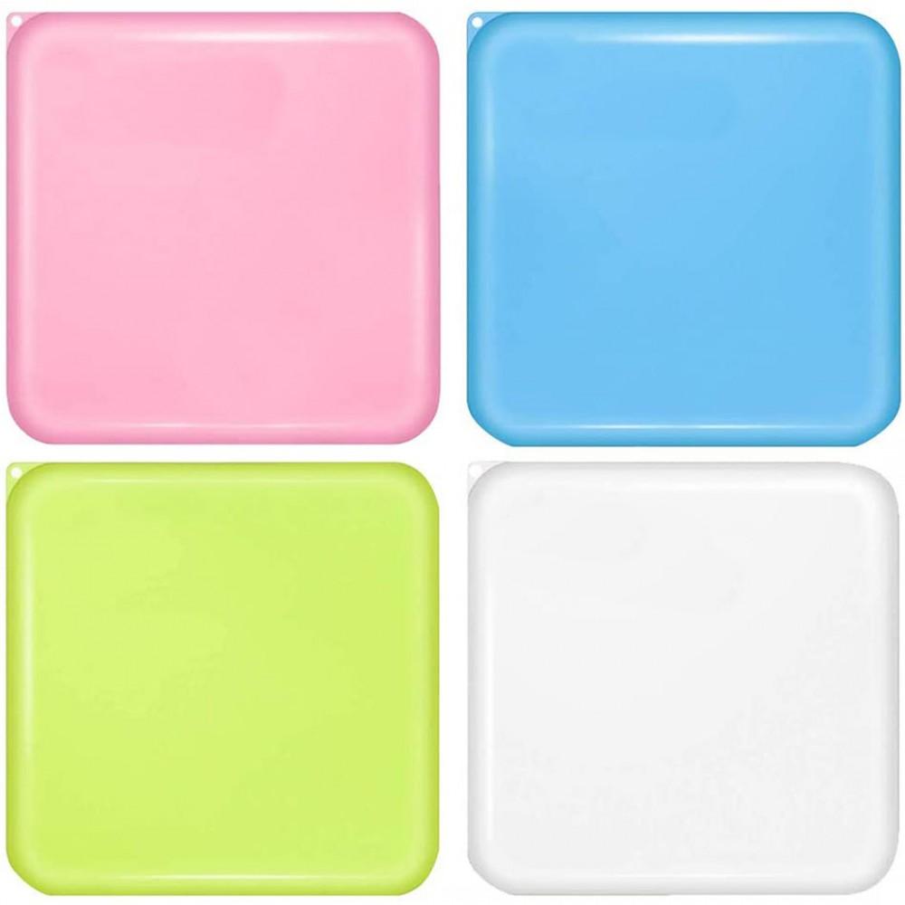 Porta mascherine custodia plastica cover tascabile riutilizzabile 13x13 cm
