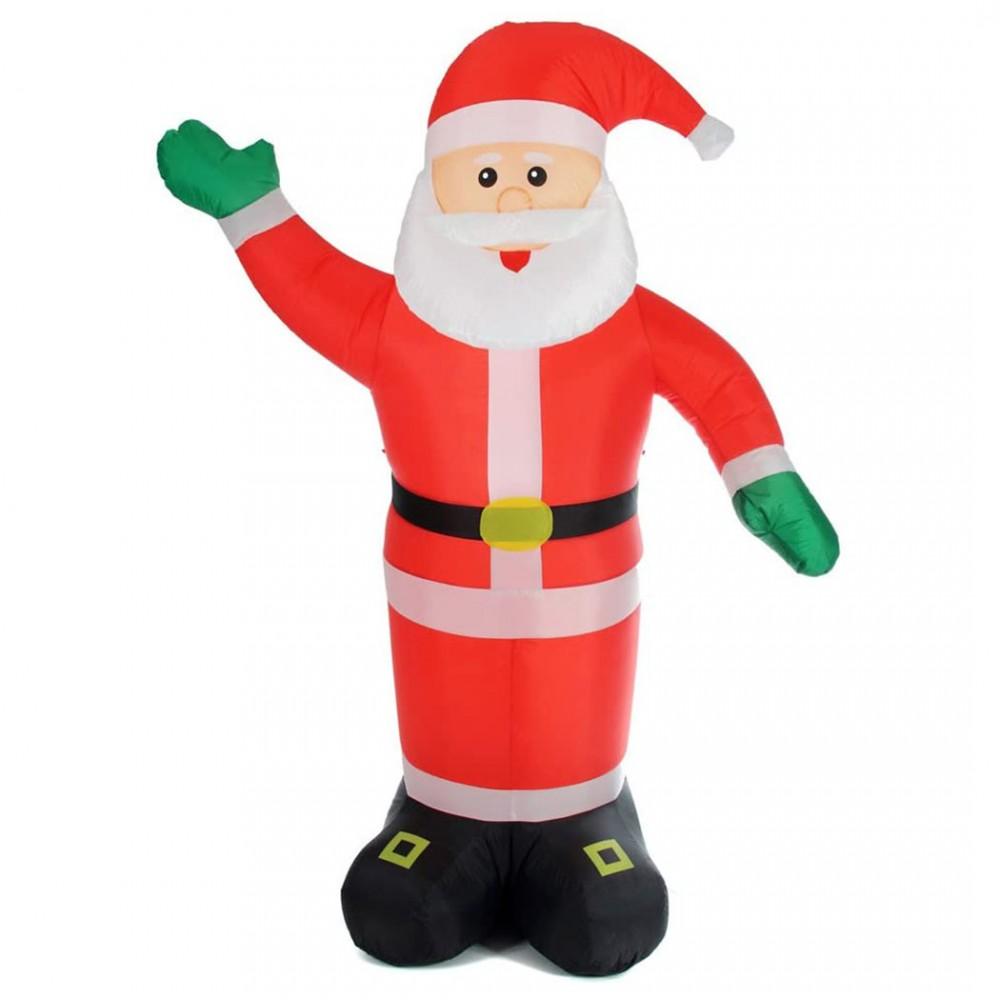 Babbo Natale gonfiabile da 180h cm 785219 con illuminazione LED protezione IP44
