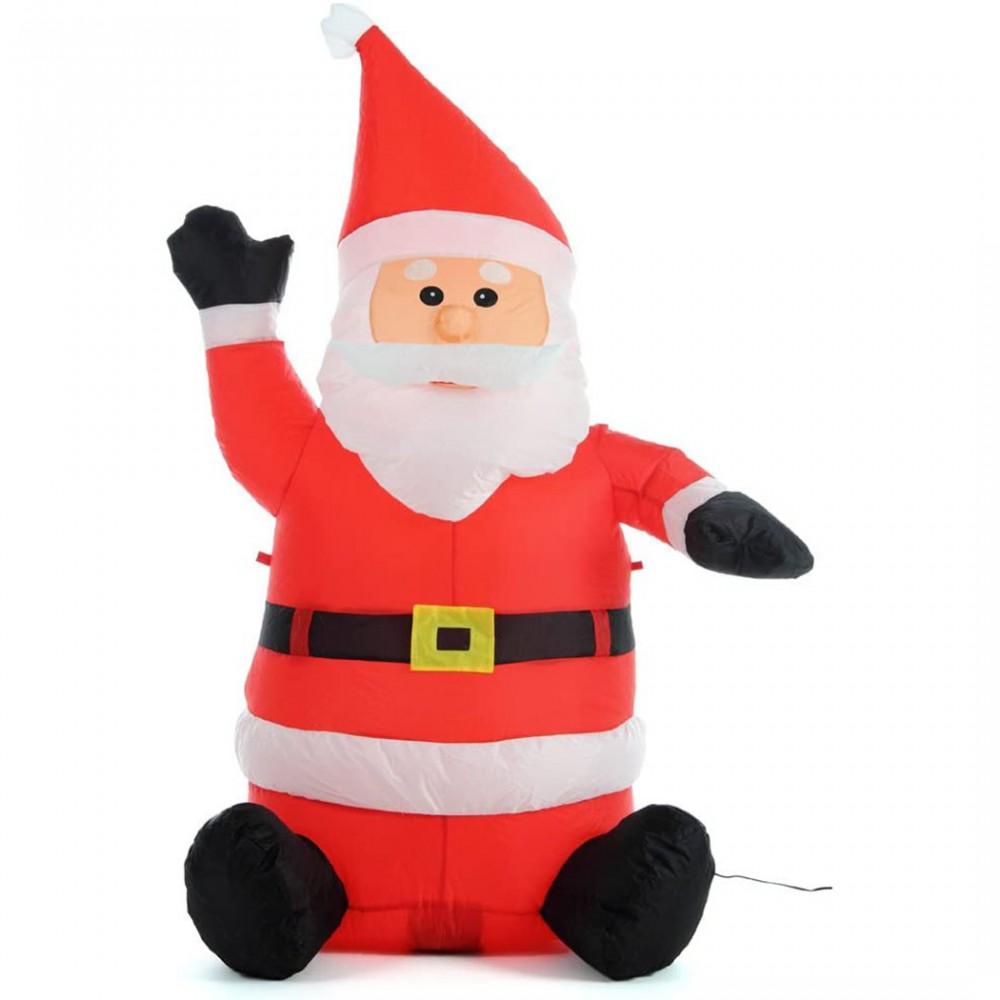 Babbo Natale gonfiabile da 120h cm 785196 con illuminazione LED protezione IP44