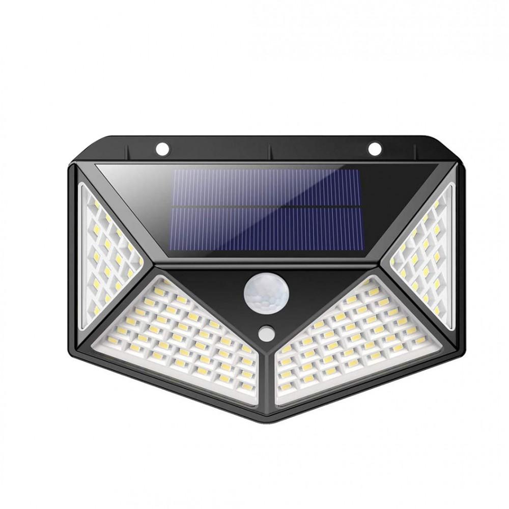 Lampada a ricarica solare 641006 sensore di movimento 100 LED angolo luce 270°