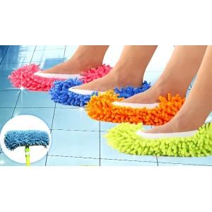 Pantofole mop in microfibra per pulire camminando doppio utilizzo