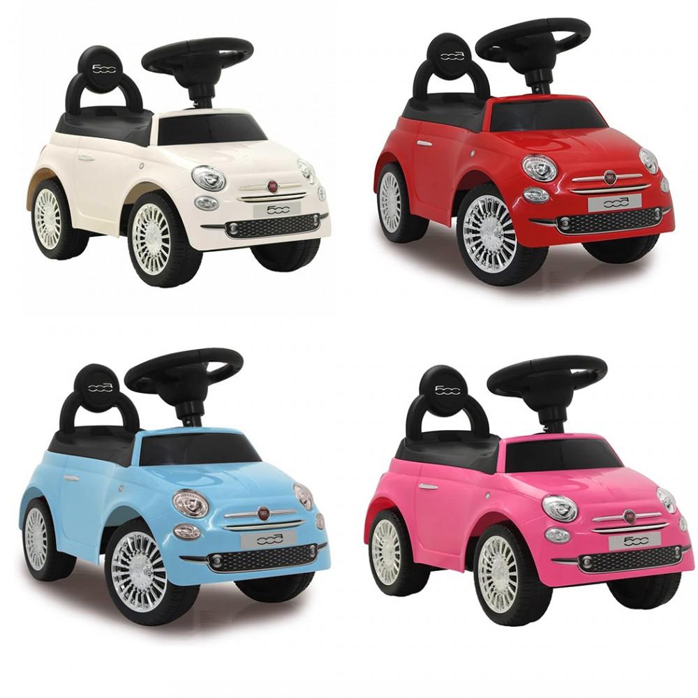 Auto giocattolo bambini fiat 500 cavalcabile bassa R7059 con vano 58x28x38 cm