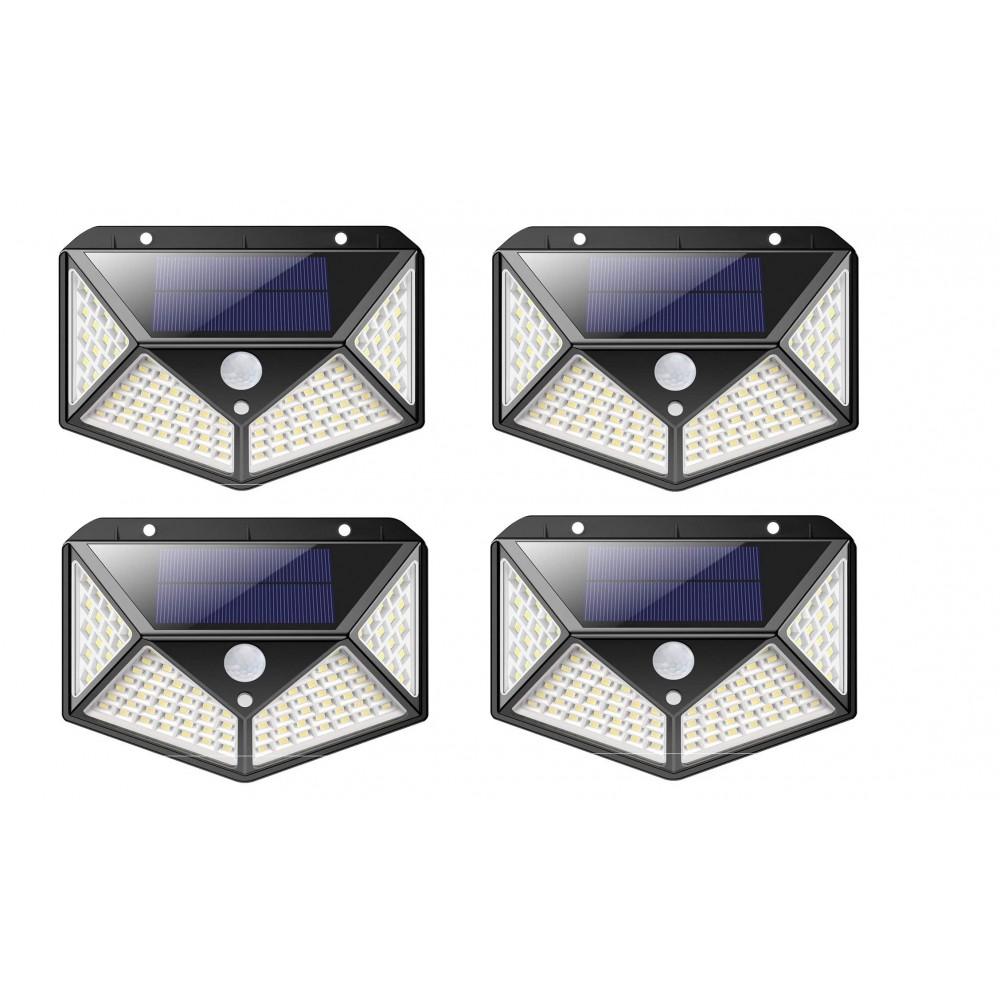 4 pz Lampada ricarica solare 641006 sensore movimento 100 LED angolo luce 270°