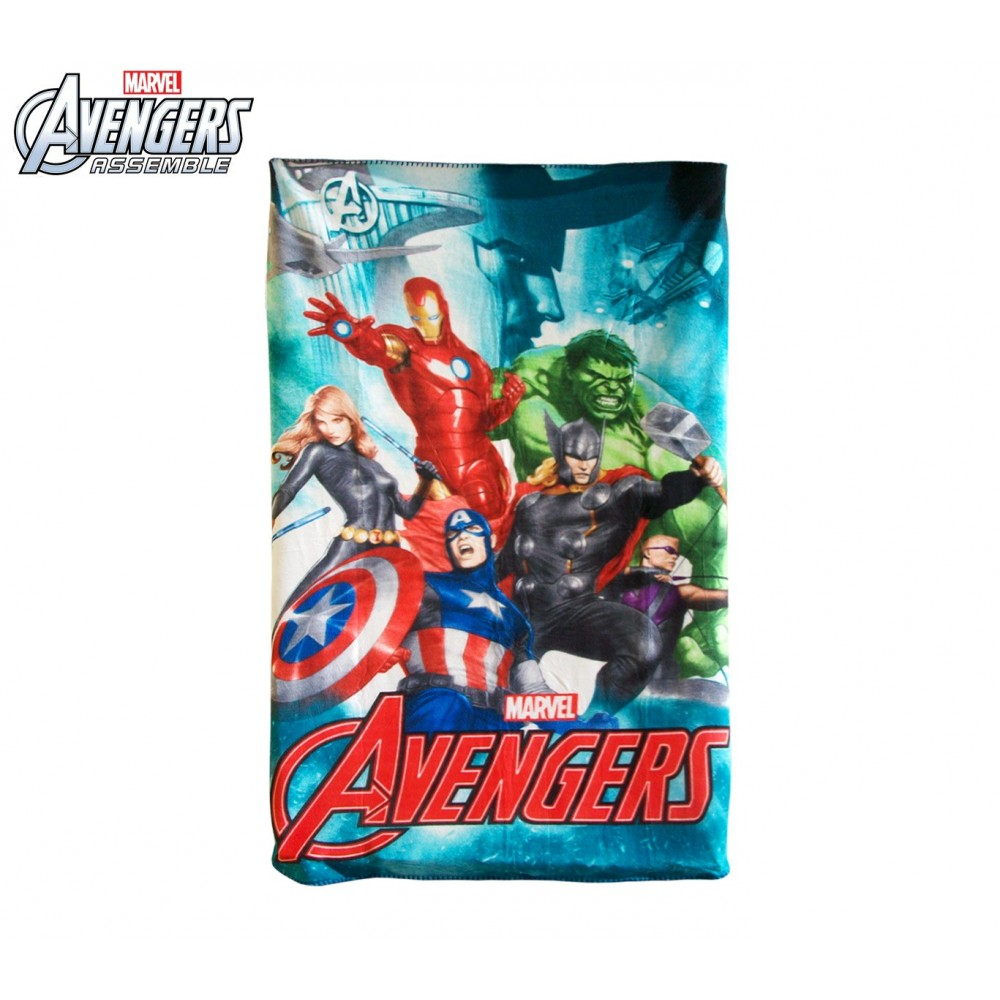 Coperta in pile con stampa The Avengers 100 x 150 cm caldo plaid con personaggi Marvel