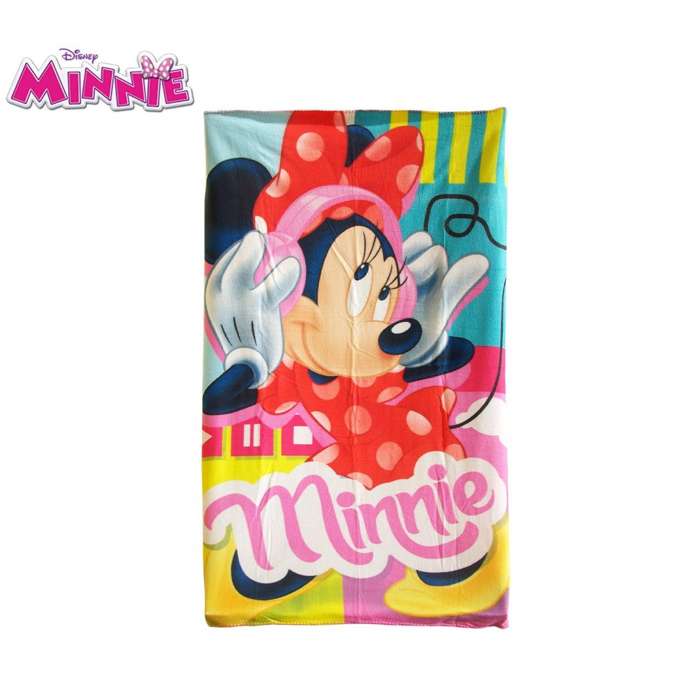 Coperta in pile con stampa Minnie 100 x 150 cm caldo plaid con personaggi Disney WD16500