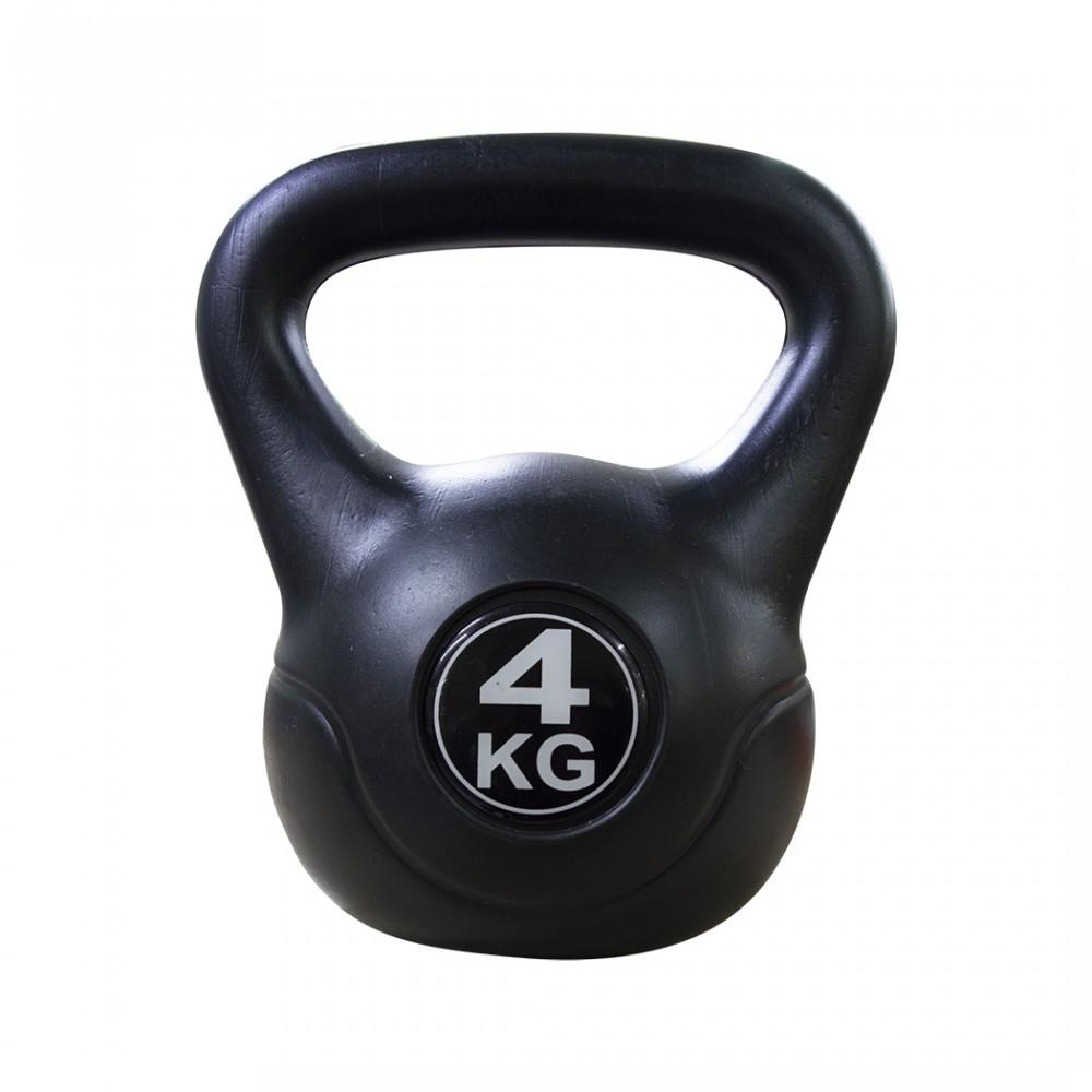 Kettlebell fitness da 4kg in pvc 186946 con sabbia e maniglia anti sfregamento