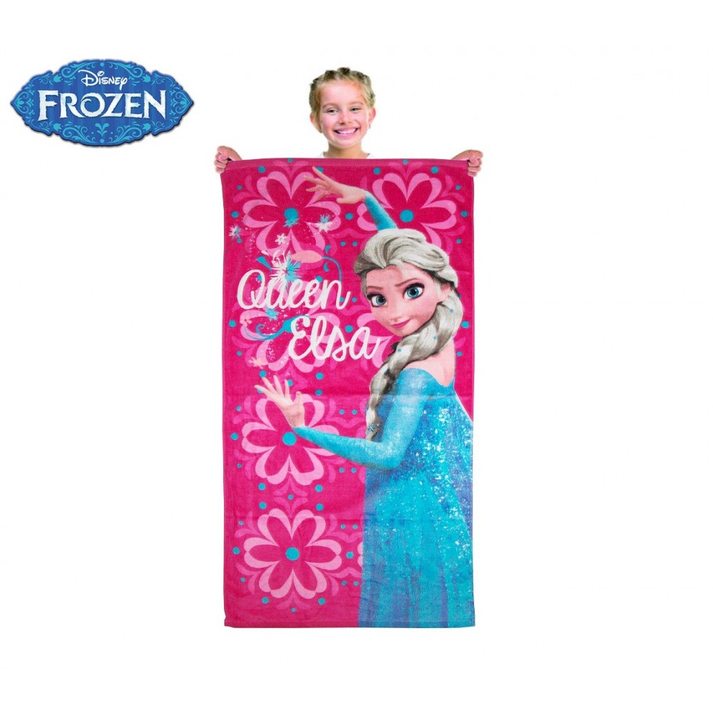 Telo mare principessa ELSA Frozen 70 x 140 cm telo doccia piscina 100% cotone beach towel WD15104