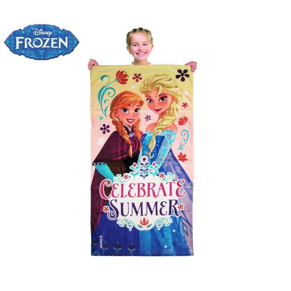 Telo mare principesse Frozen 70 x 140 cm telo doccia 100% cotone WD15020
