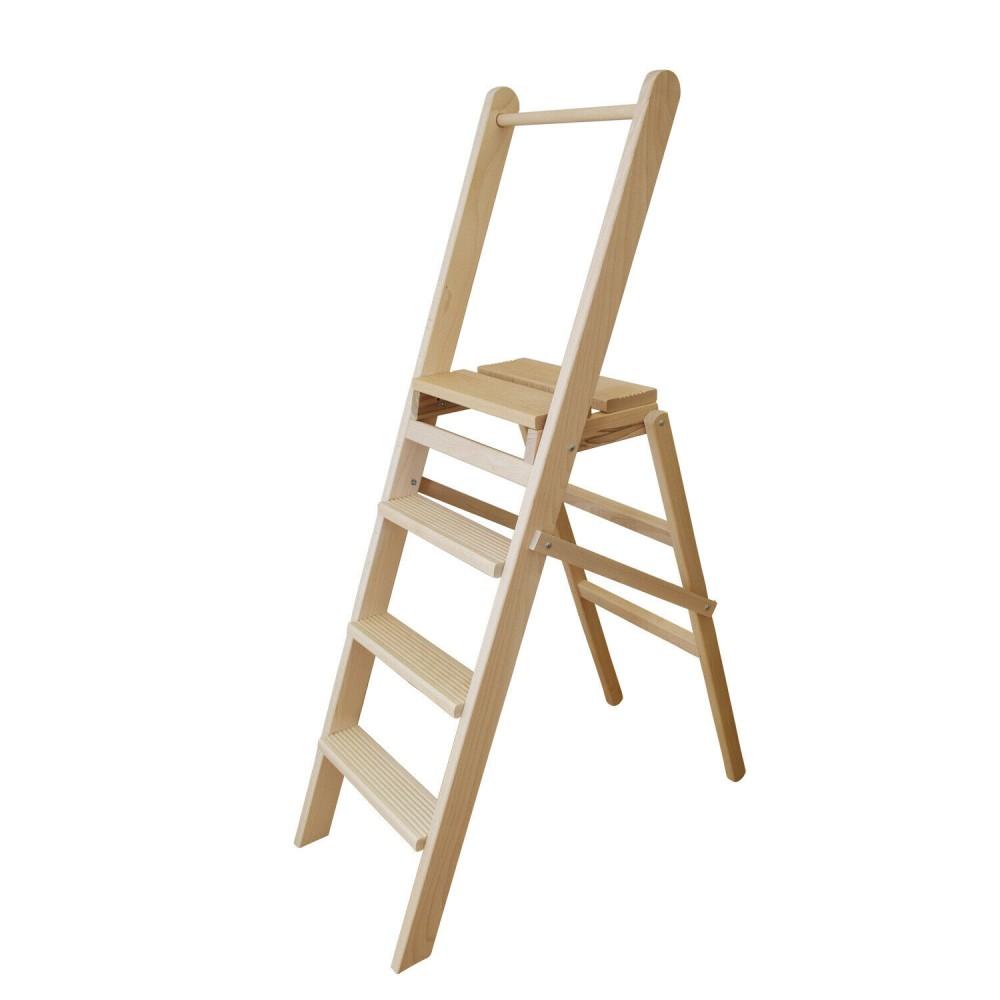Scaletto 4 gradini art 111 scala legno 127x39x72 cm fino a 150 Kg richiudibile