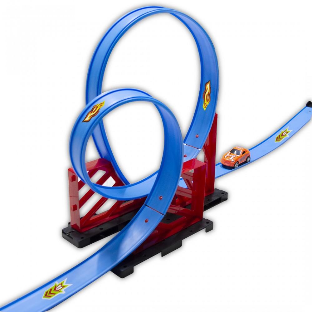 Pista circuito TRACK RACING 2,5 mt giocattolo bambini 100019 con macchinina