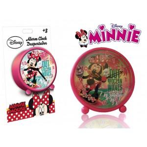 Orologio sveglia tonda da comodino MINNIE MOUSE 9 cm decorata con la graziosa Minnie con piedini WD16051
