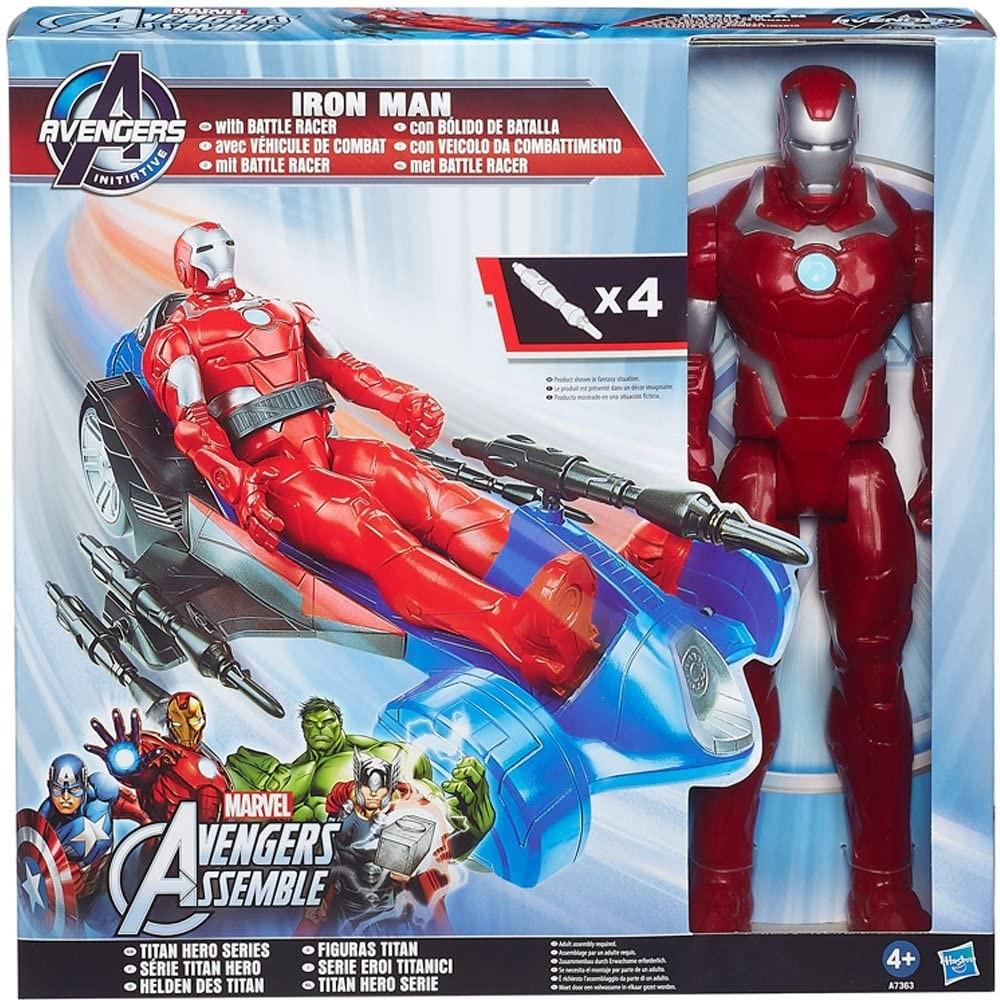 Avengers Iron Man 799434 veicolo e personaggio da 30h cm compatibile Titan Hero