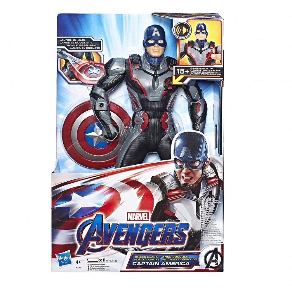 Capitan America lancia scudo 30h cm Marvel Avengers 550821 suoni e in inglese
