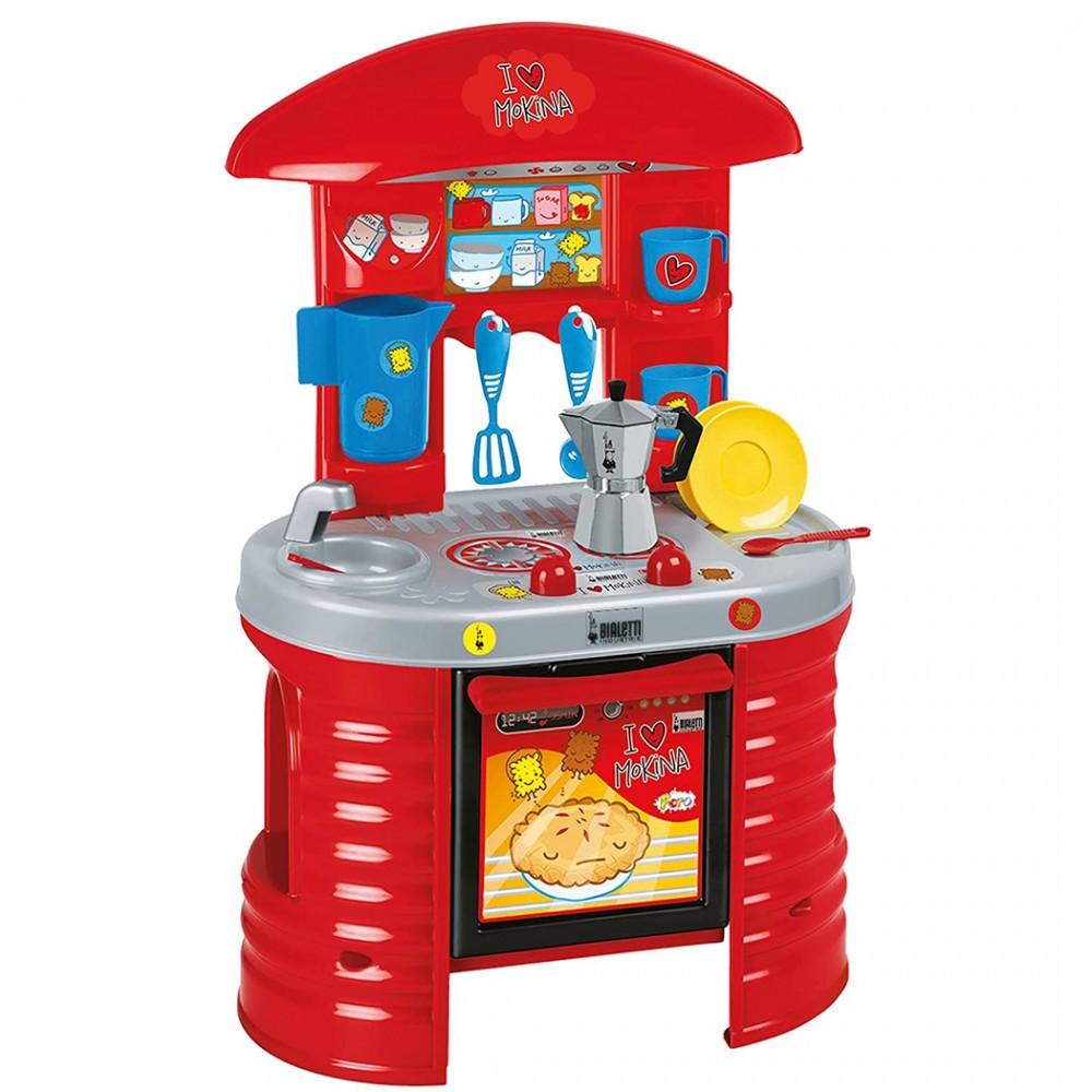 Cucina giocattolo I love Mokina 415474 Moka Bialetti 72h cm Rosso e Giallo