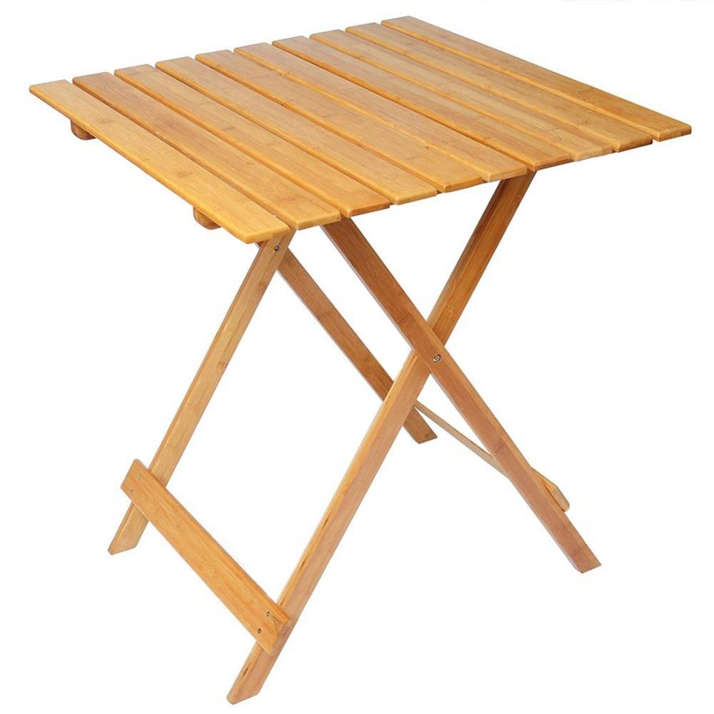 Tavolo pieghevole 80 x 60 cm in legno naturale art. 292 richiudibile da giardino