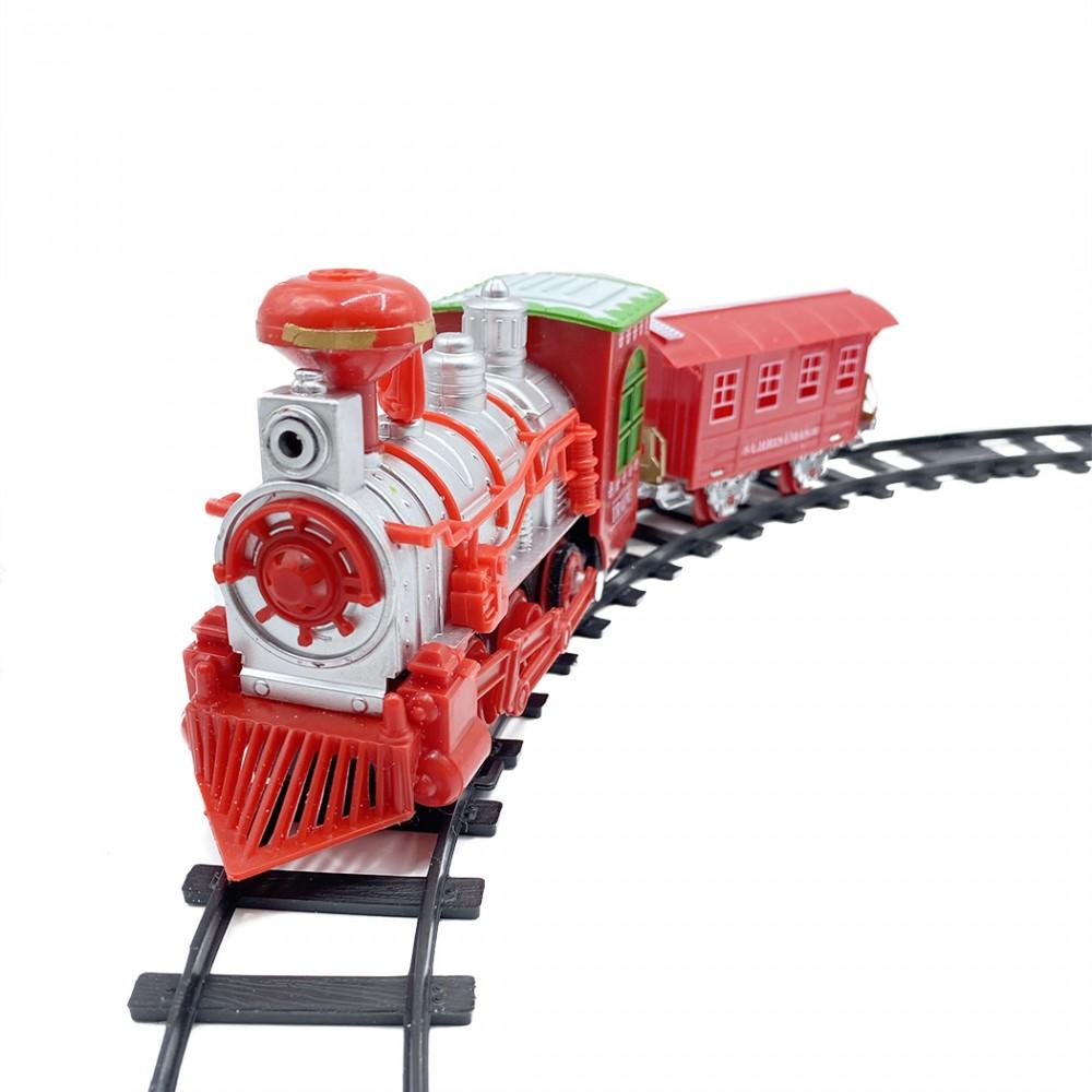 Treno Natalizio e pista 556234 circonferenza di 75 cm con luci e suoni