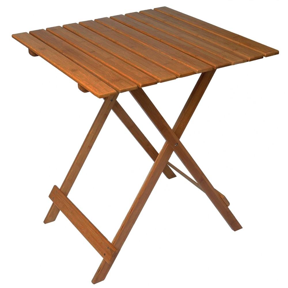 Tavolo pieghevole 80 x 60 cm legno color Noce MAS116 richiudibile da giardino