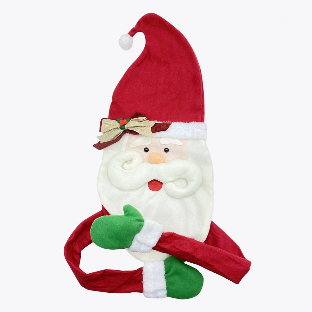 Puntale per albero di Natale 6145018 forma della faccia Babbo Natale con mani