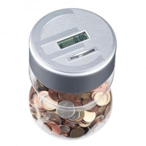 Salvadanaio elettronico conta monete euro con display digitale salva euro 52700