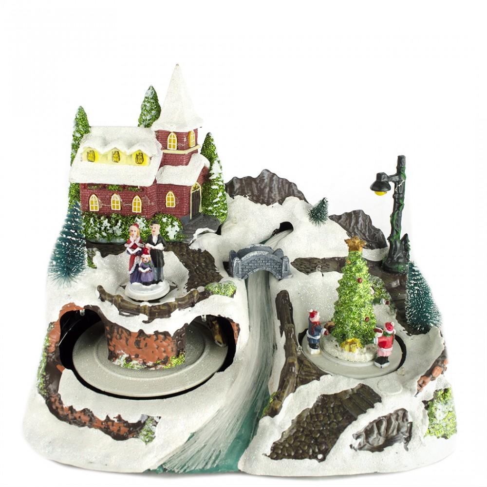 Giostrina e scenario natalizio 899904 con luci musica e movimento natale