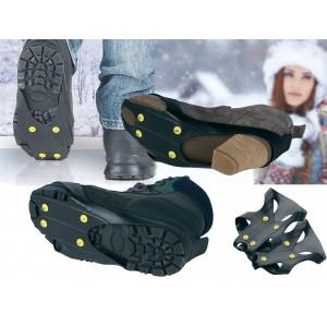 Coppia di suole per ghiaccio e neve con rampini antiscivolo universali per calzature uomo o donna