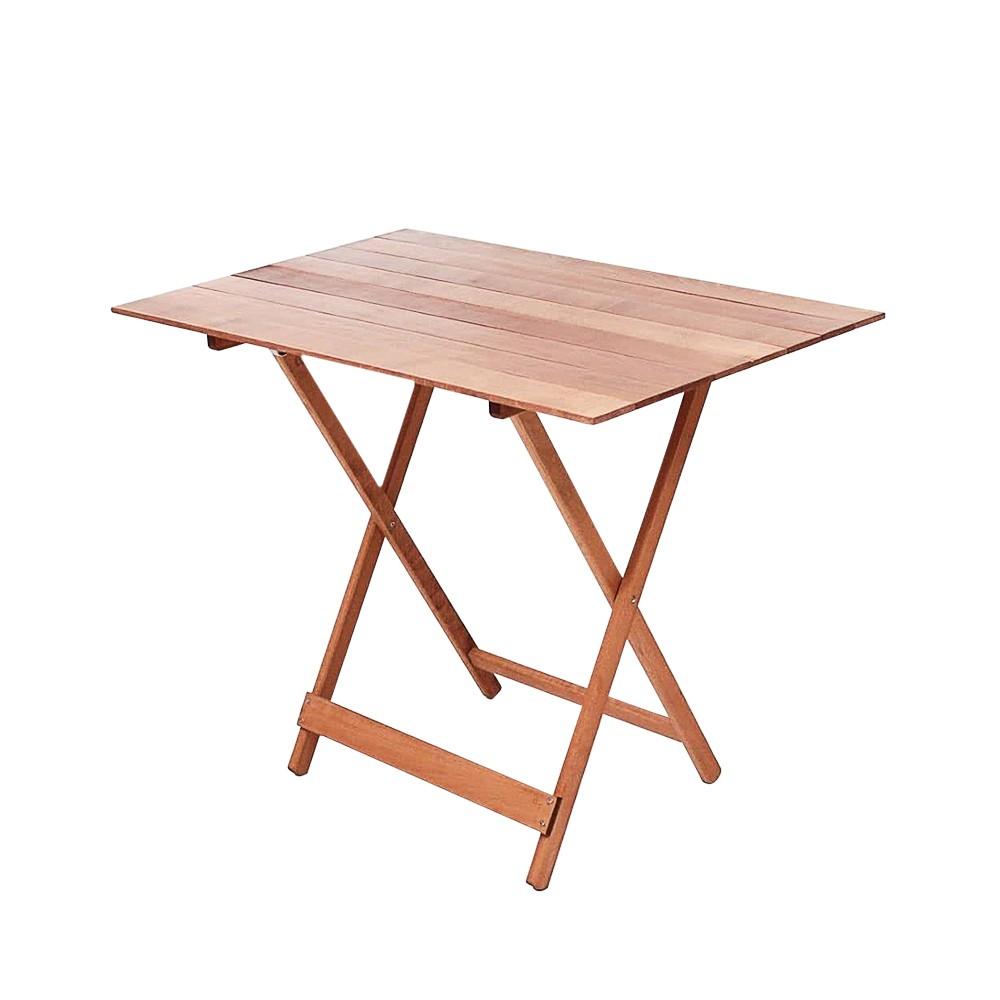 Tavolo pieghevole 100 x 60 cm in legno naturale richiudibile tavolo da giardino