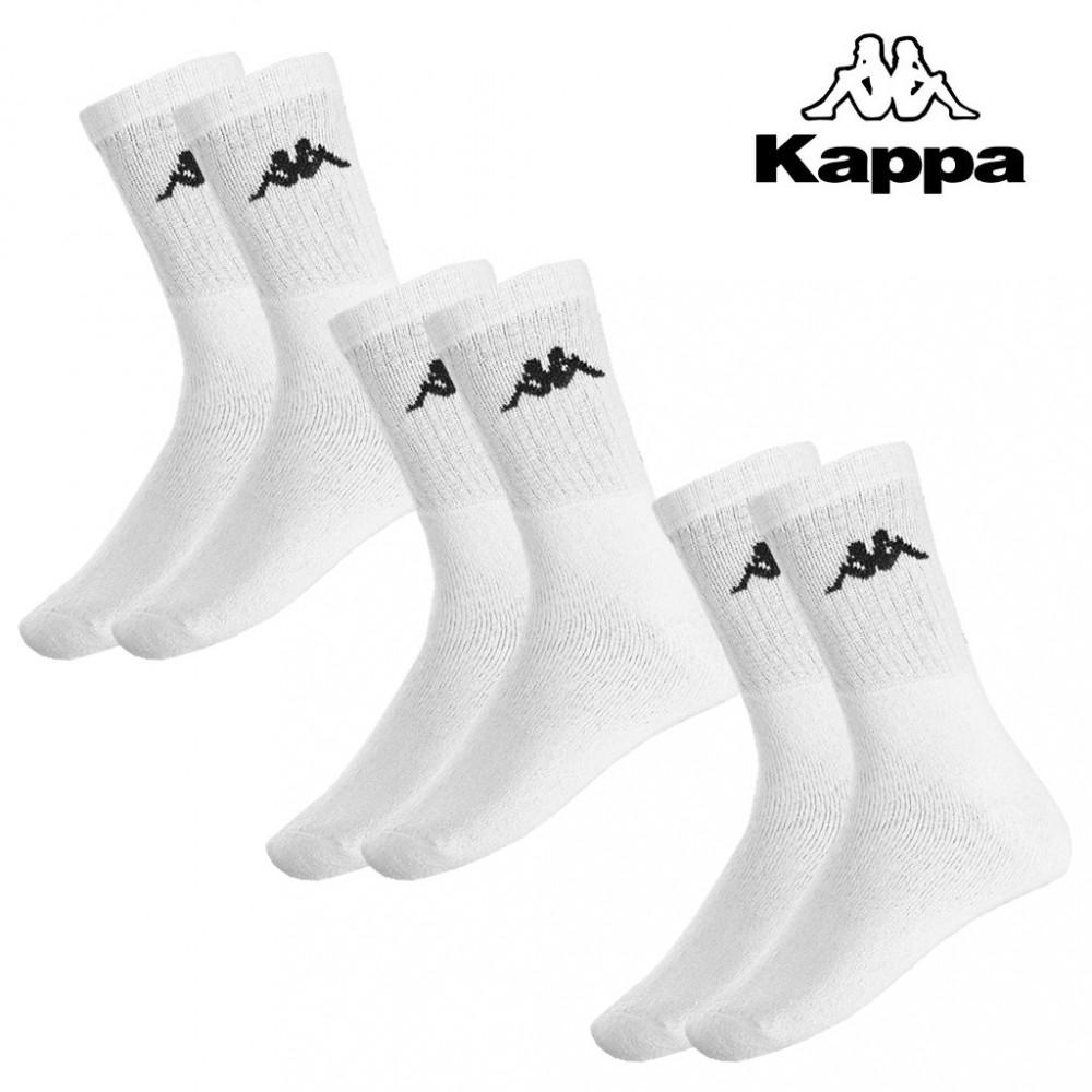 Pack 3 paia di calze da uomo KAPPA in spugna di cotone massimo comfort in vari colori e taglie