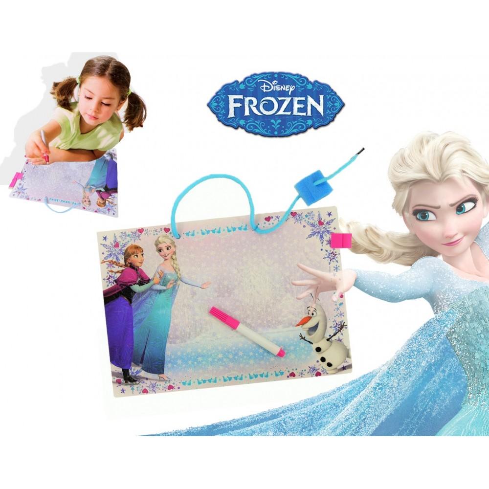 Lavagna Frozen memo 28 x 20 cm per disegnare scrivere e annotare con pennarello e cancellino