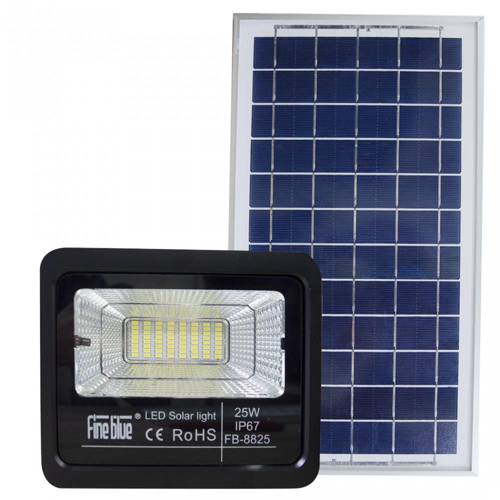 Faro led con ricarica solare 25W impermeabile IP67 FB-8825 6500K luce fredda