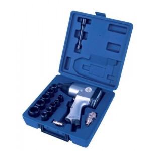 Image of Avvitatore pneumatico a pressione 1/2 ad aria compressa 400 NM 6 bar con bussole 8435524507551