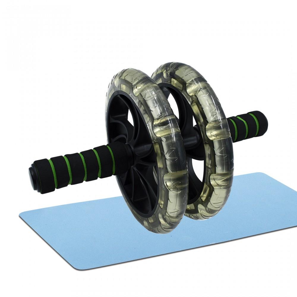 Roller Wheel attrezzo allenamento addominali e fitness 871051 con tappetino