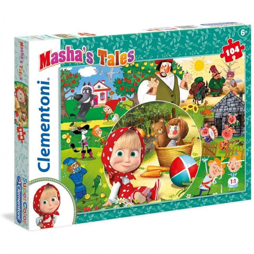 Clementoni puzzle 270699 Masha e Orso con 104 pz 48,5 x 33,5 cm Tales Supercolor